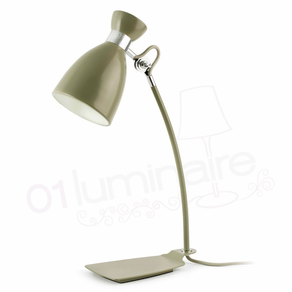 Lampe poser r tro finition verte faro for But lampe a poser