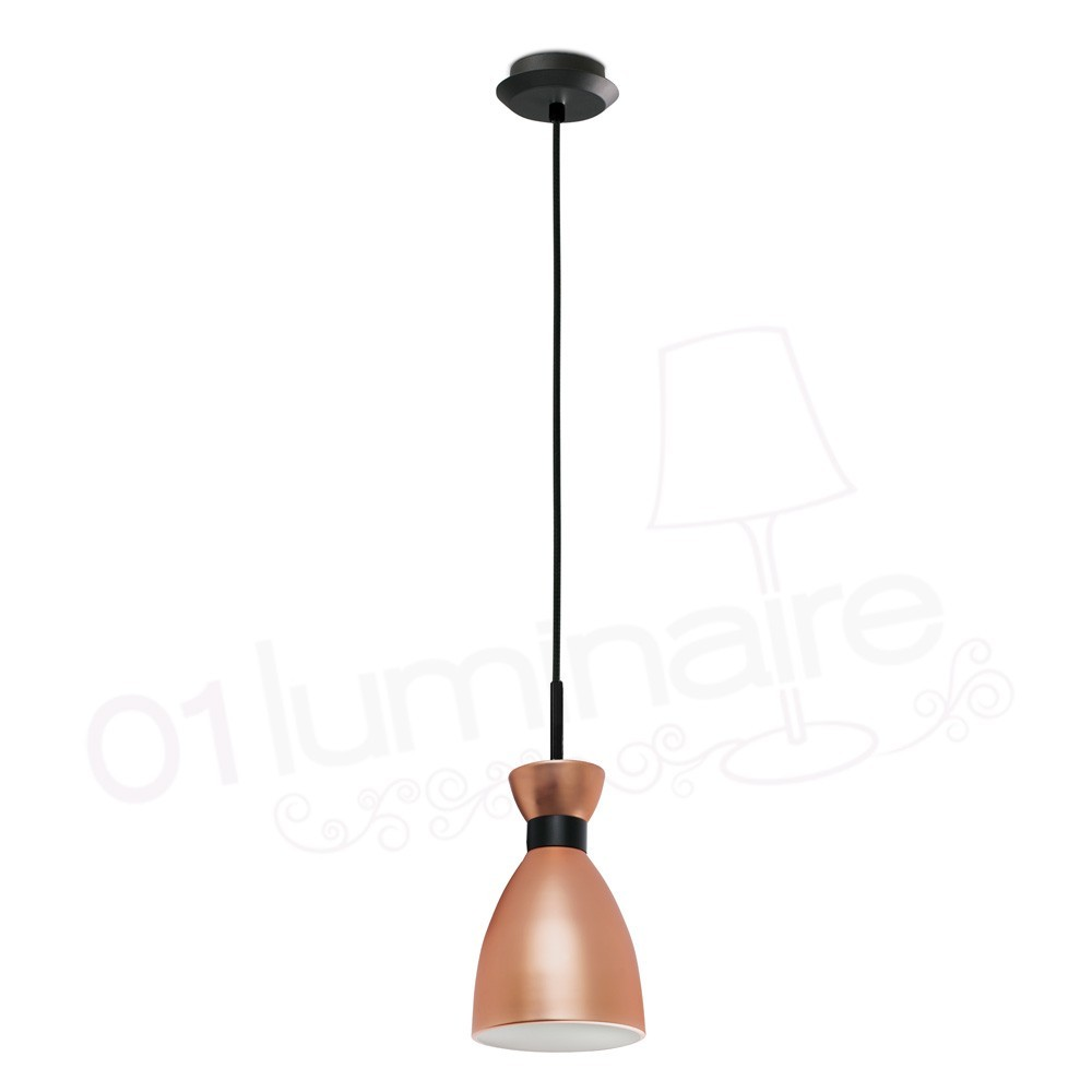 Suspension r tro cuivre faro for Suspension luminaire cuivre