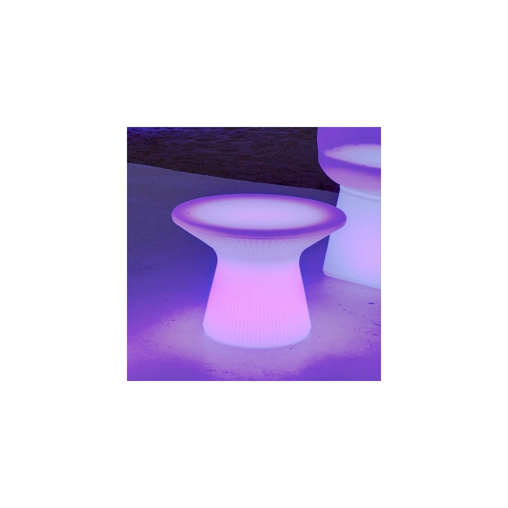 table basse lumineuse capri 40cm led rgb sans fil t l commande. Black Bedroom Furniture Sets. Home Design Ideas