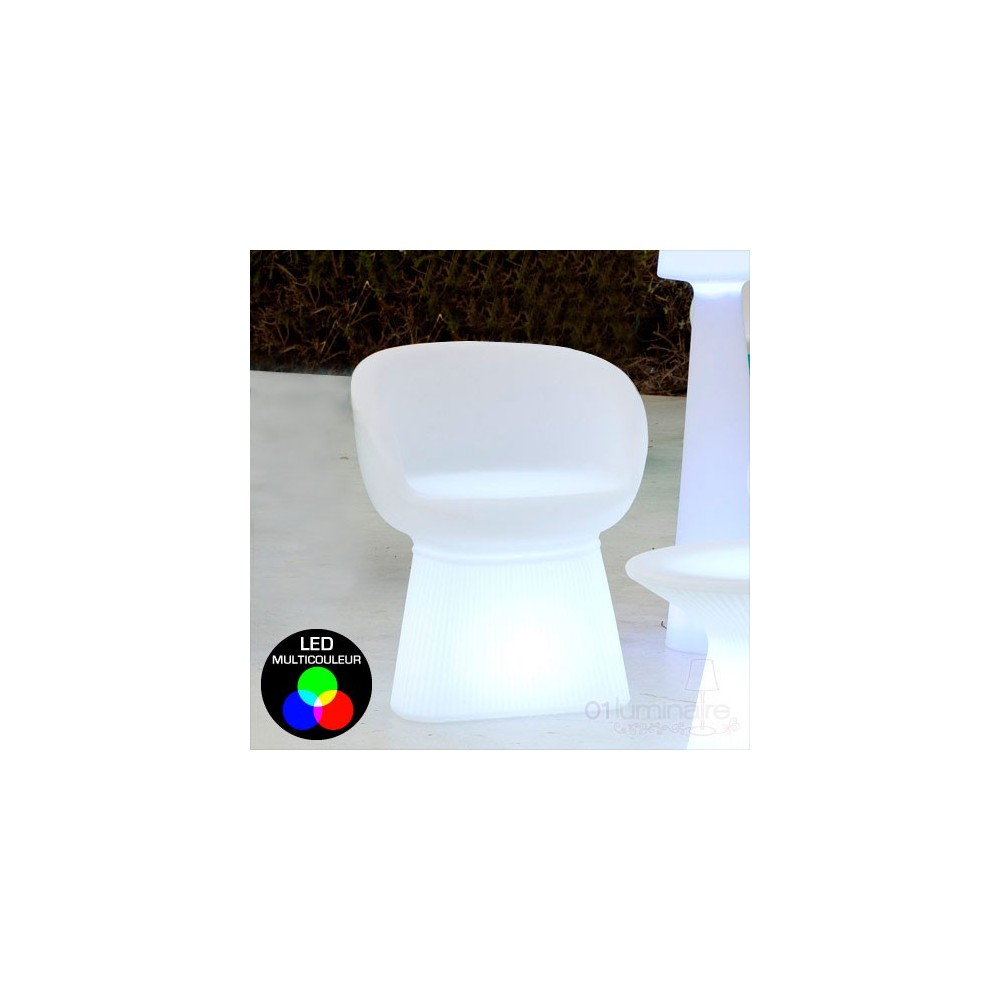 fauteuil lumineux led rgb sans fil t l commande. Black Bedroom Furniture Sets. Home Design Ideas