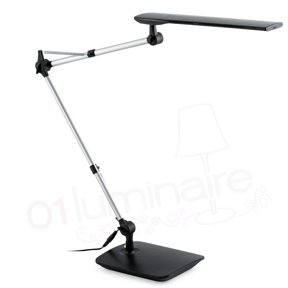 lampe de bureau ito led noire bras flexible faro. Black Bedroom Furniture Sets. Home Design Ideas