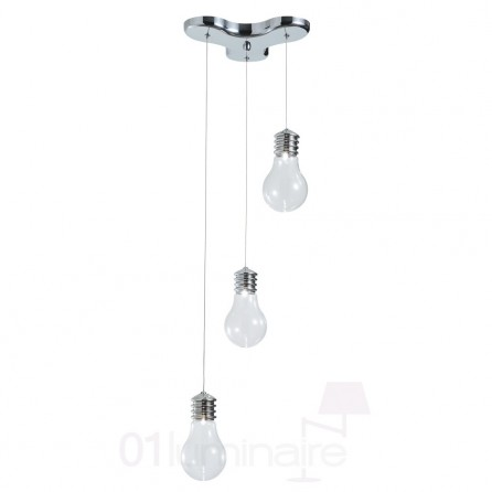 suspension edisson chrome 3 lumi res market set. Black Bedroom Furniture Sets. Home Design Ideas