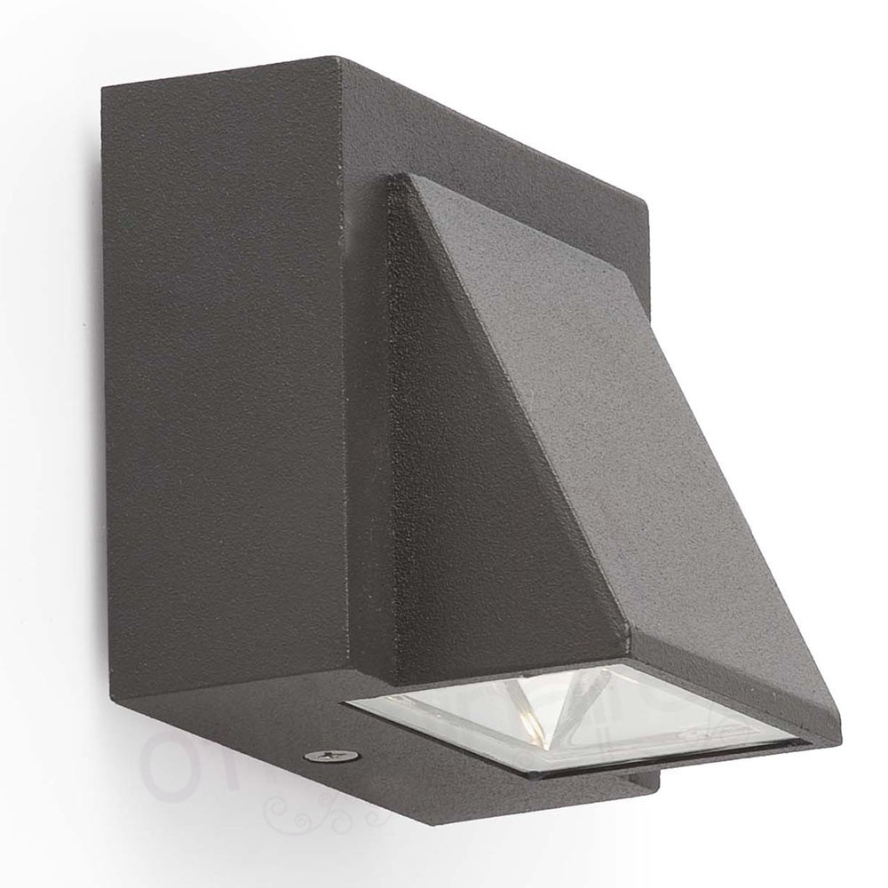 Applique ext rieur kamal led gris faro for Applique murale exterieure faro