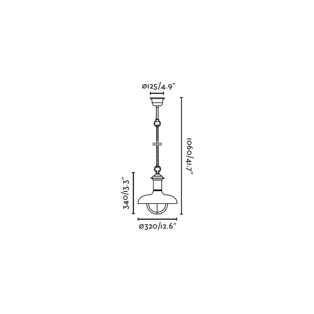 Suspension ext rieure estoril g rouille 1 lumi re e27 60w - Luminaire faro exterieur ...