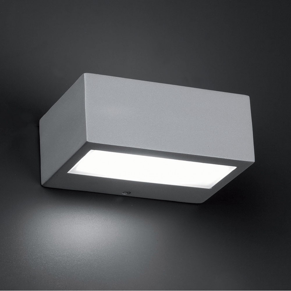 Applique ext rieure didot gris clair 1 lumi re 100w faro for Lumiere murale exterieur