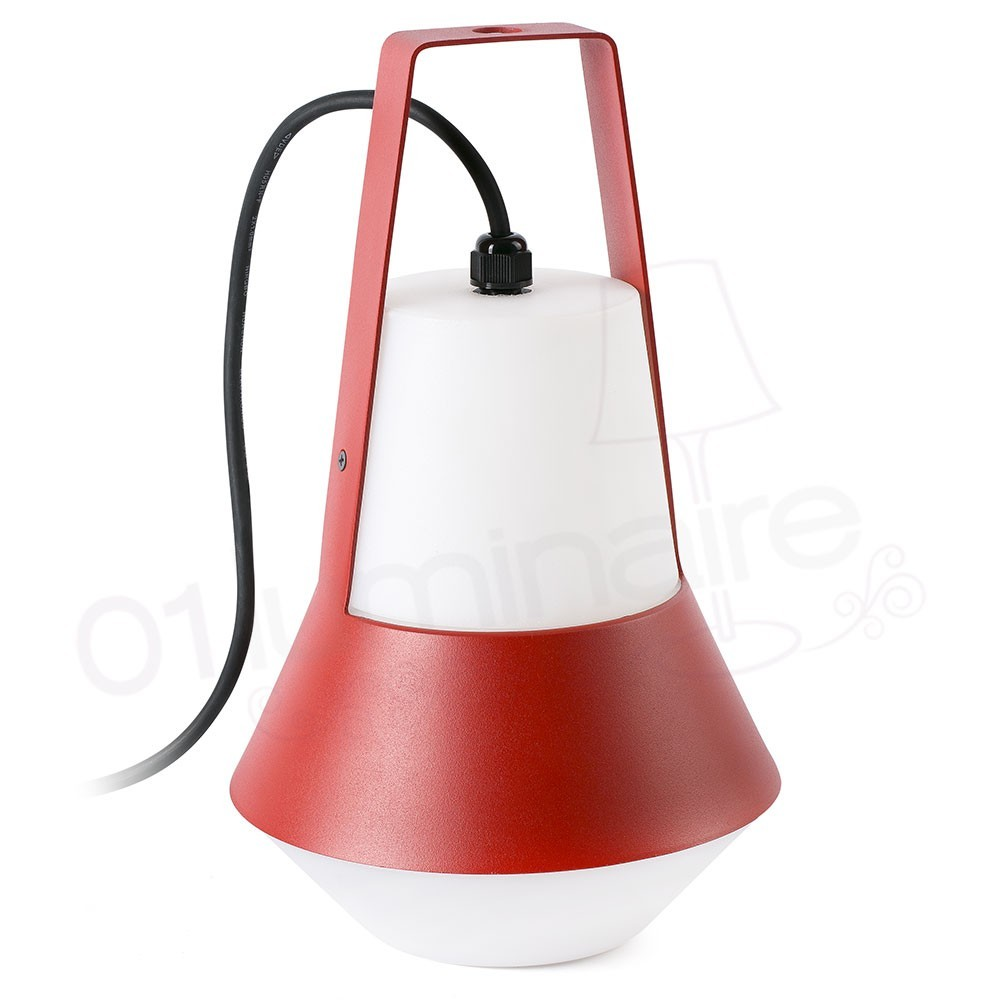Lampe portative ext rieure cat rouge 1 lumi re e27 20w faro - Lampe suspension rouge ...