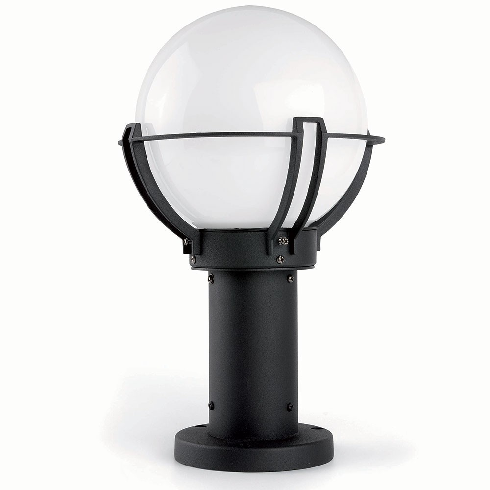 Borne ext rieure sol 1 lumi re e27 20w faro for Lumiere exterieur electrique
