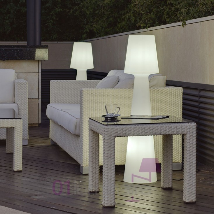 lampadaire ext rieur casa light mmled sans fil t l commande. Black Bedroom Furniture Sets. Home Design Ideas
