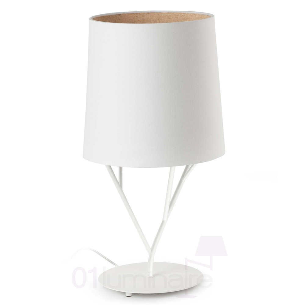 Lampe poser tree blanche luminaire faro for But lampe a poser