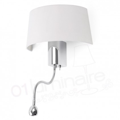 Applique Hotel chrome liseuse Led 29941 Faro