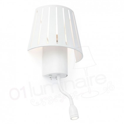 Applique Mix blanche liseuse Led 29962 Faro
