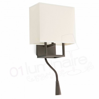 Applique Versper marron liseuse Led 29983 Faro