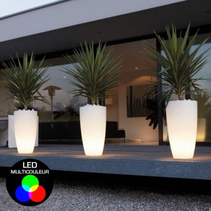 pot lumineux pot de fleurs lumineux et pot de fleurs led pour clairer et d corer vos. Black Bedroom Furniture Sets. Home Design Ideas