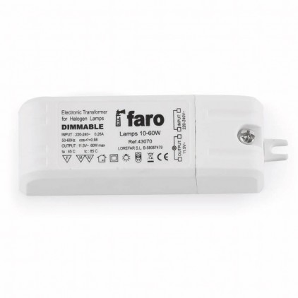 Transformateur electronique 60w dimmable - Faro