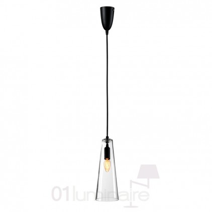 Suspension Miss F verre transparent noir 838P Market Set