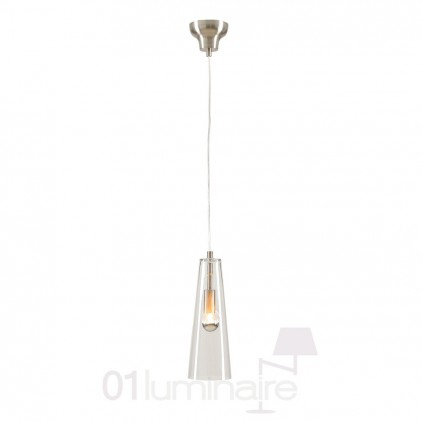 Suspension Miss F verre transparent nickel satiné 838P Market Set