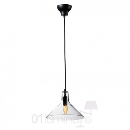 Suspension Miss H verre transparent noir 838P Market Set