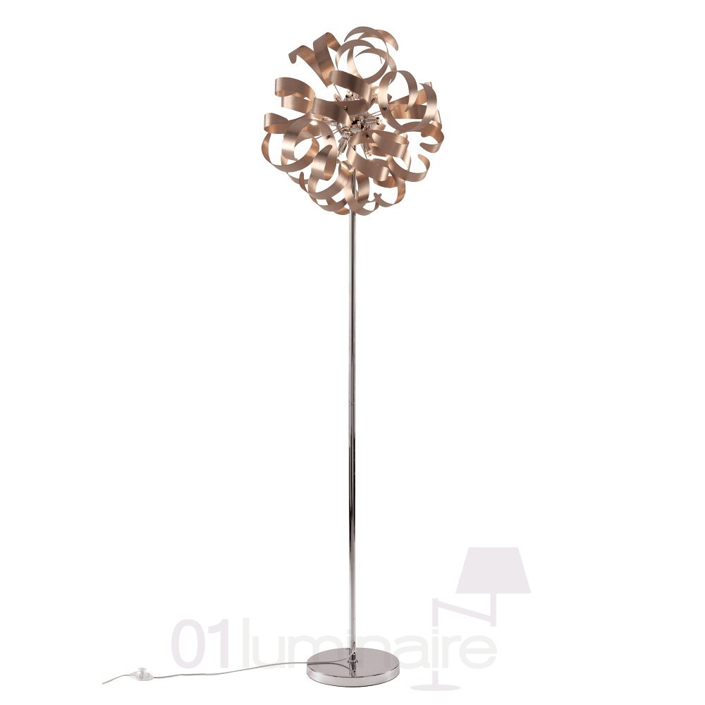 lampadaire flox 9 lumi res cuivre market set. Black Bedroom Furniture Sets. Home Design Ideas