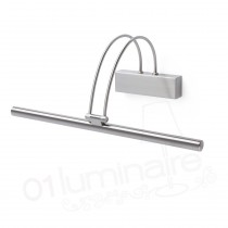 Applique à Tableau Klimt Nickel mat LED 3000K 429Lm - Faro