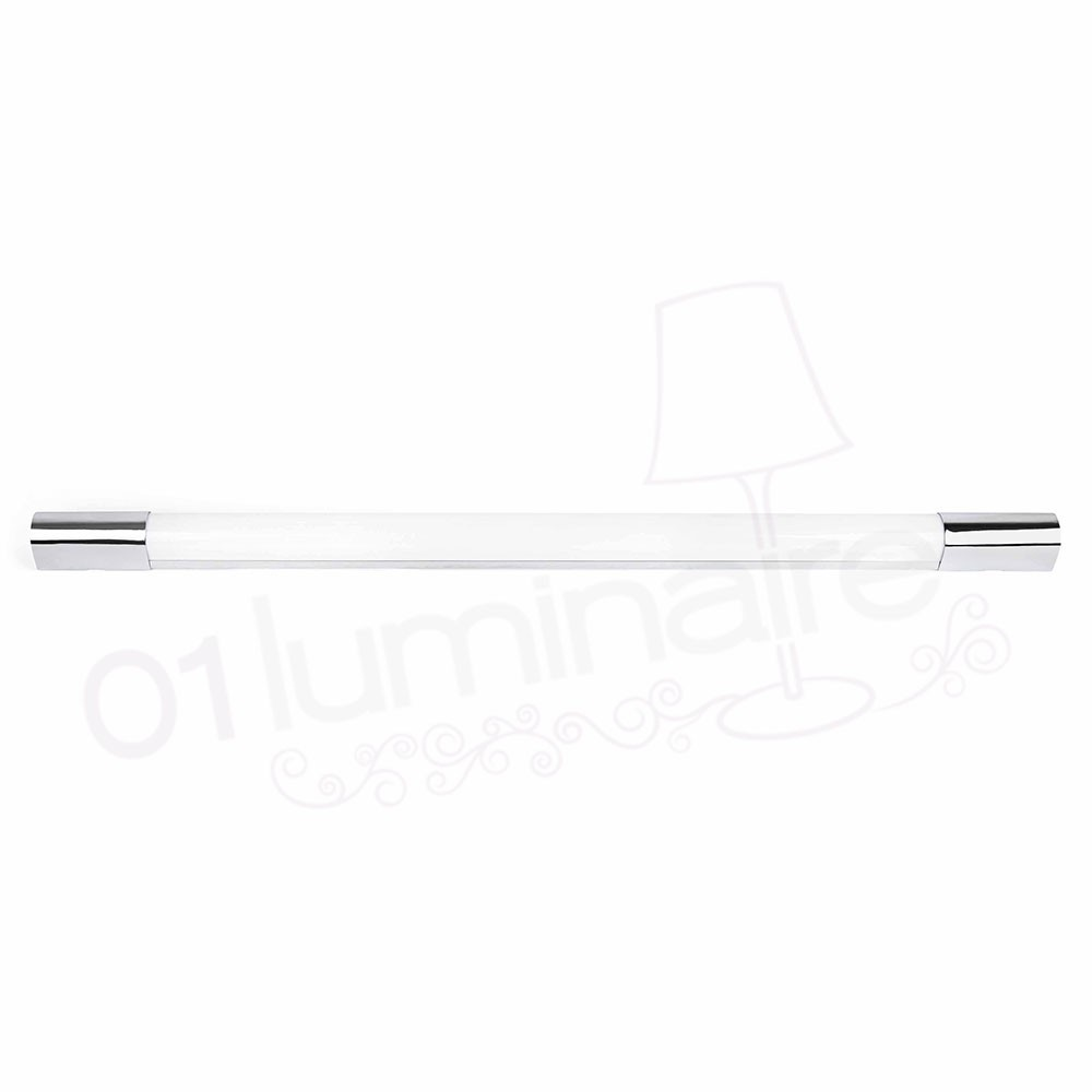 Applique murale indo led chrome 4000k 600lm salle de for Applique salle de bain led