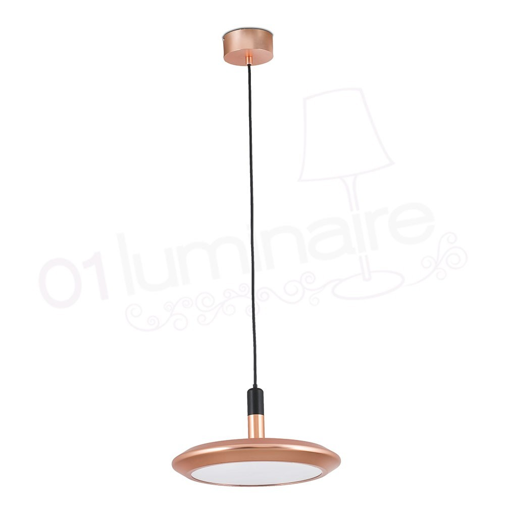suspension planet cuivre led 3000k 780lm faro. Black Bedroom Furniture Sets. Home Design Ideas