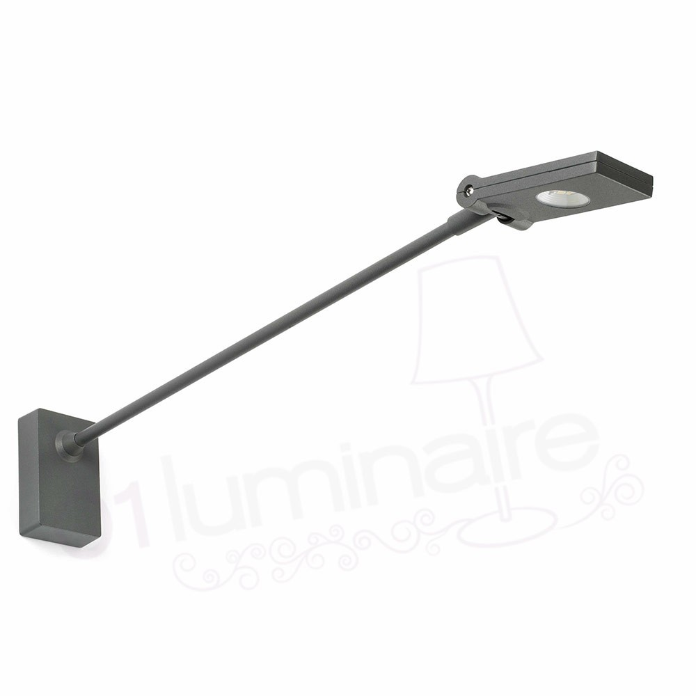 Projecteur ext rieur toran 2 gris led orientable 4000k 345 for Applique murale exterieur orientable