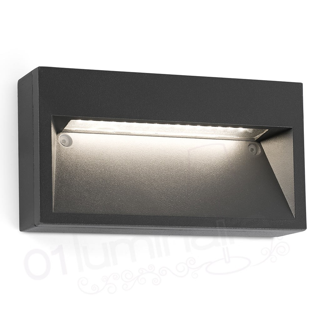 Applique ext rieur path led gris 3000k 70508 faro - Applique murale led exterieur ...