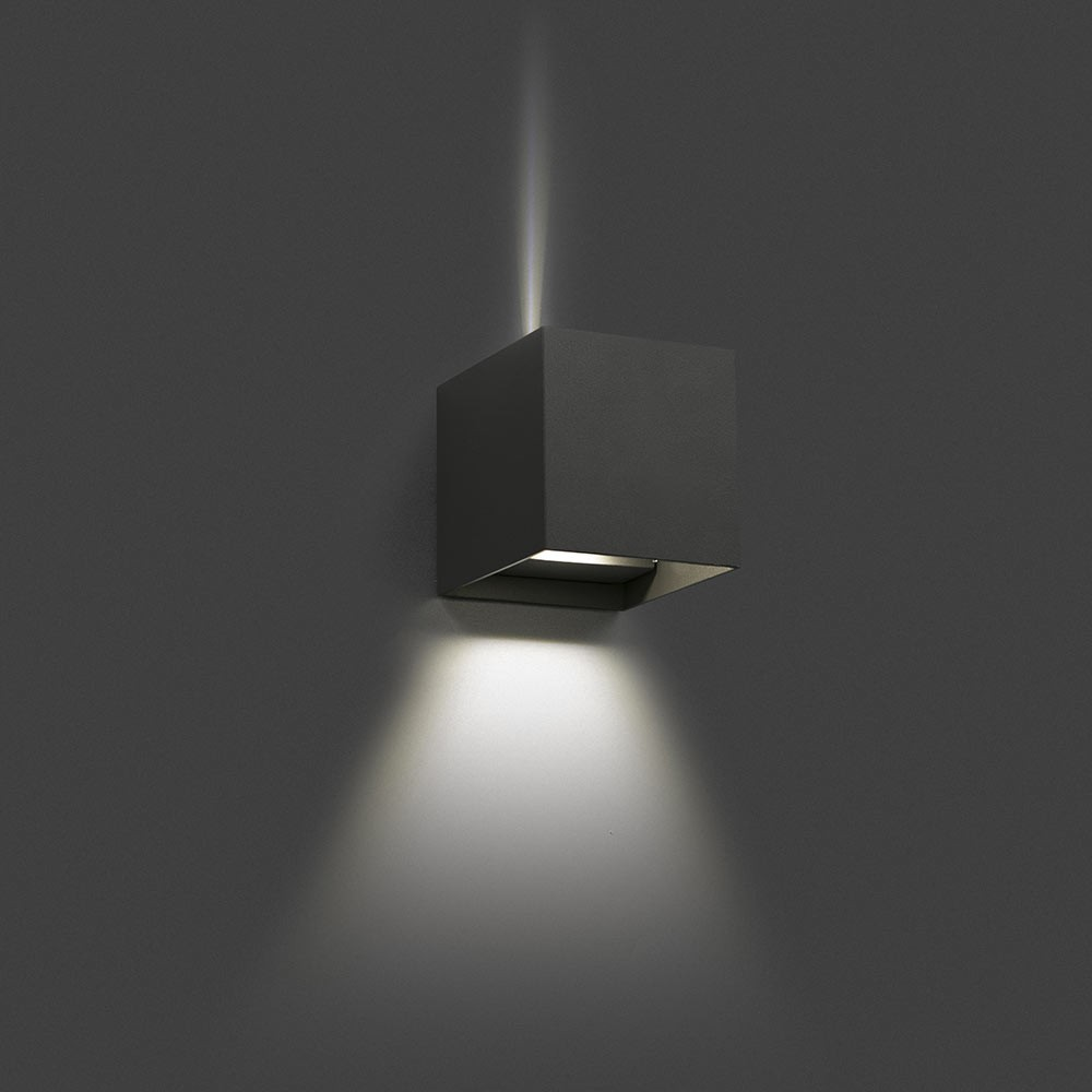 Applique ext rieur olan led gris ip54 70637 faro for Applique murale exterieure faro