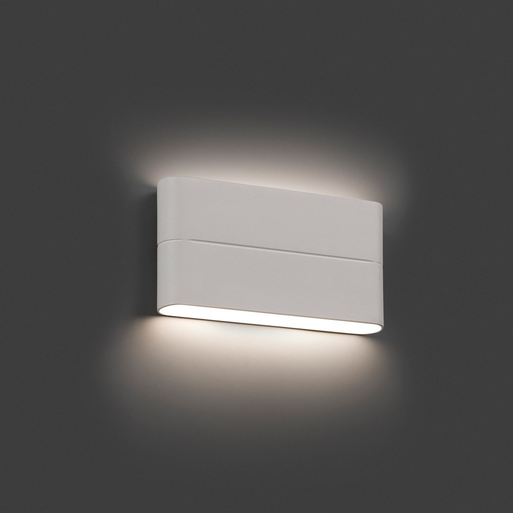 Applique ext rieur aday 2 led blanc ip54 70646 faro for Applique murale exterieure led