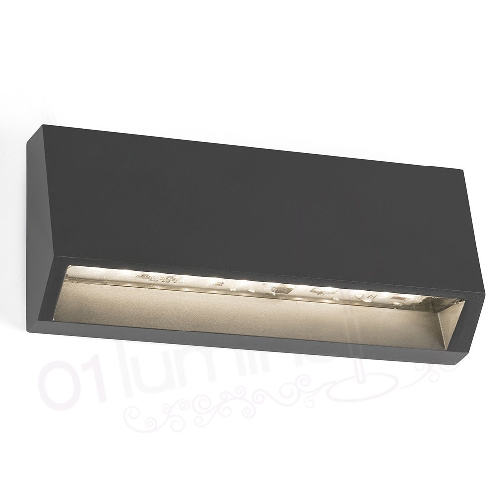Applique ext rieur must 2 led gris ip65 70658 faro for Led murale exterieur