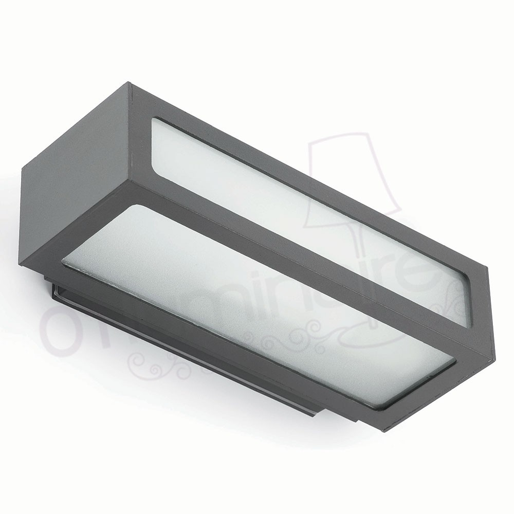 Applique ext rieure natron gris 1 lumi re e27 100w faro for Applique murale exterieure faro