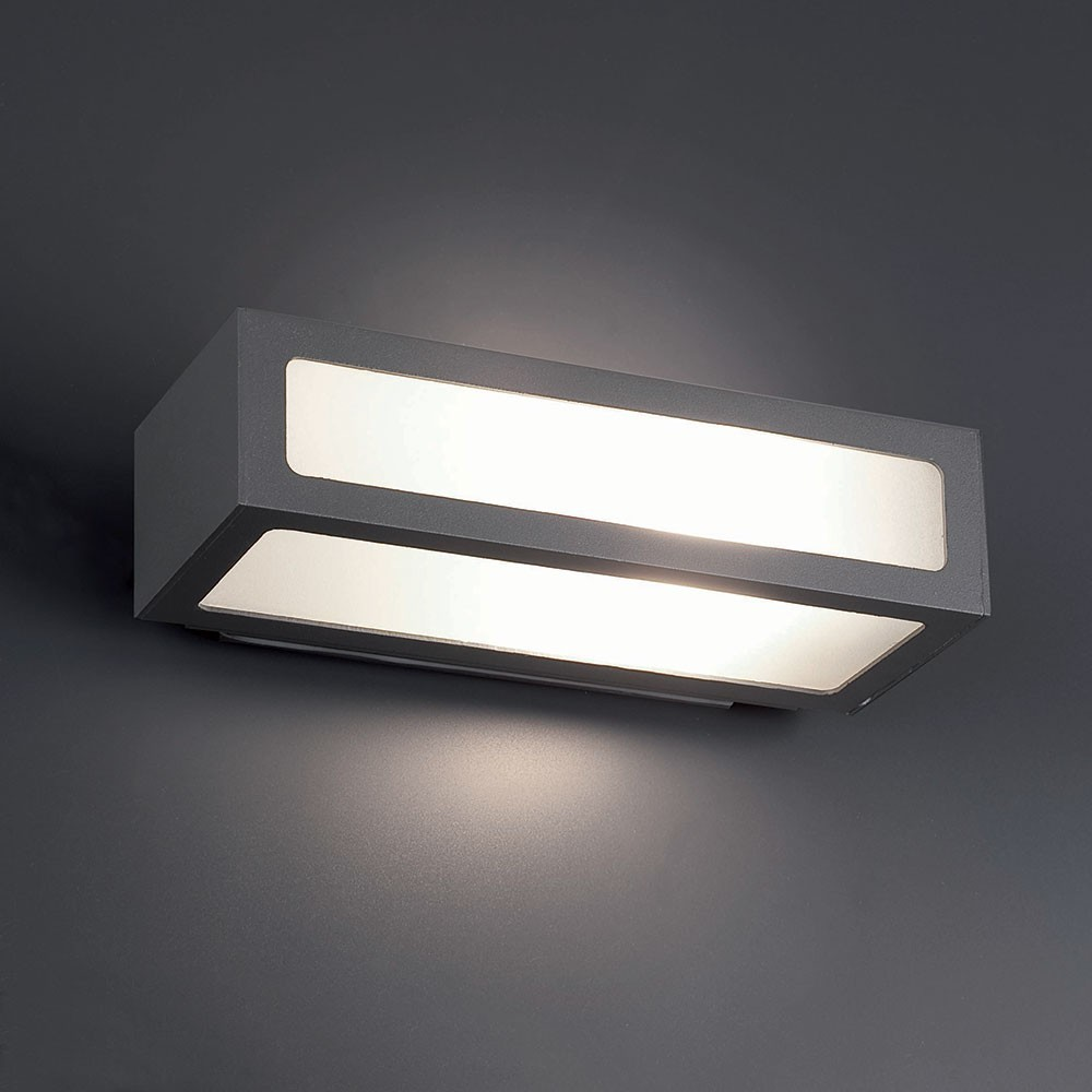 Applique ext rieure natron gris 1 lumi re e27 100w faro for Grande applique murale exterieur