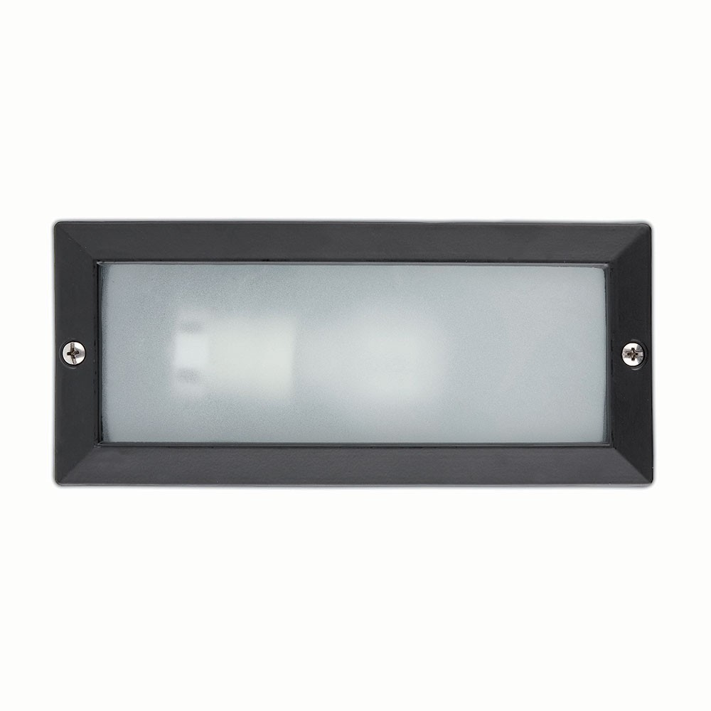 Spot encastrable exterieur mural liso noir e27 71491 faro for Spot exterieur led encastrable