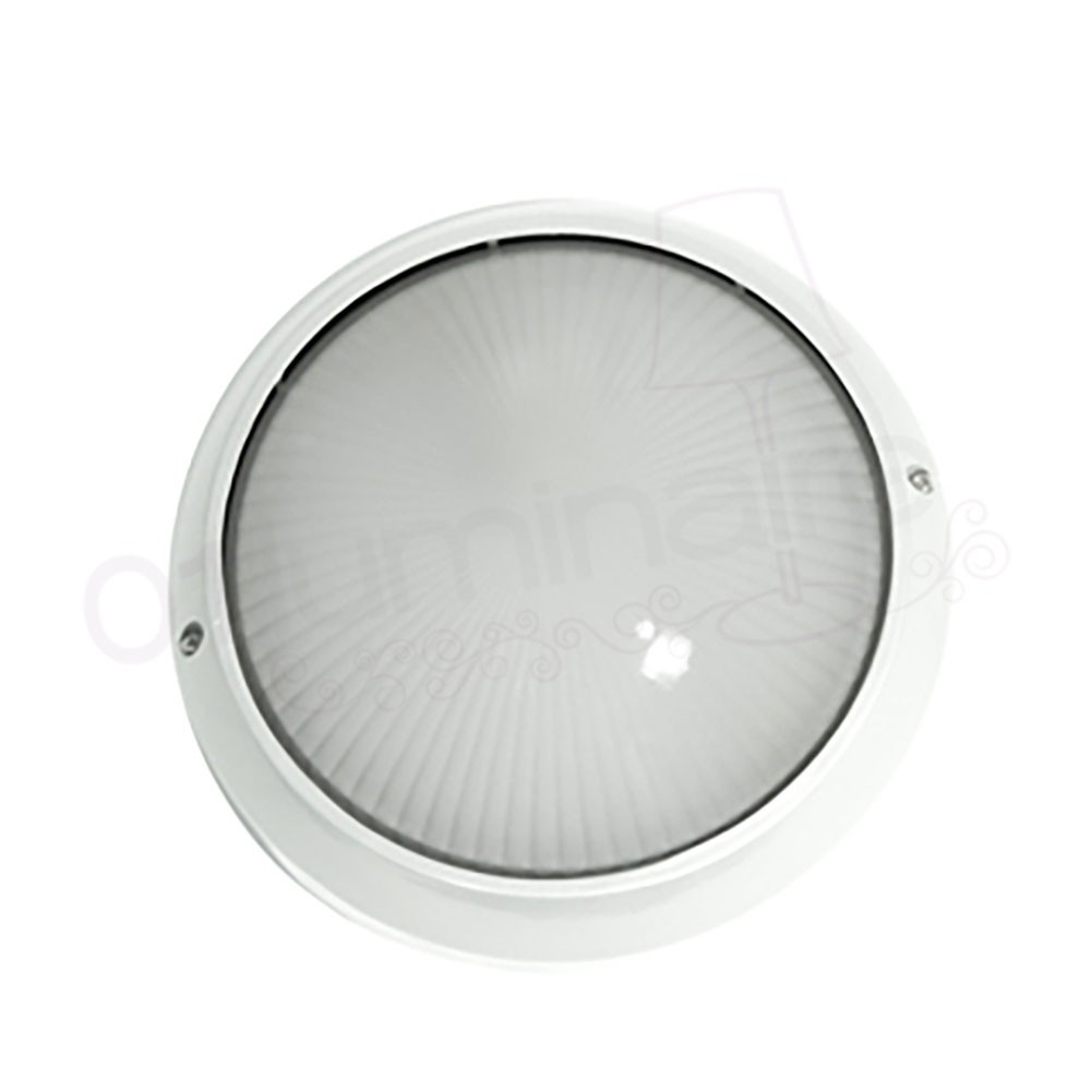 Applique ext rieure radio g blanc 1 lumi re e27 100w faro for Grande applique murale exterieur