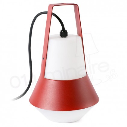 Lampe Table Suspension Exterieur CAT Rouge 71564 Faro