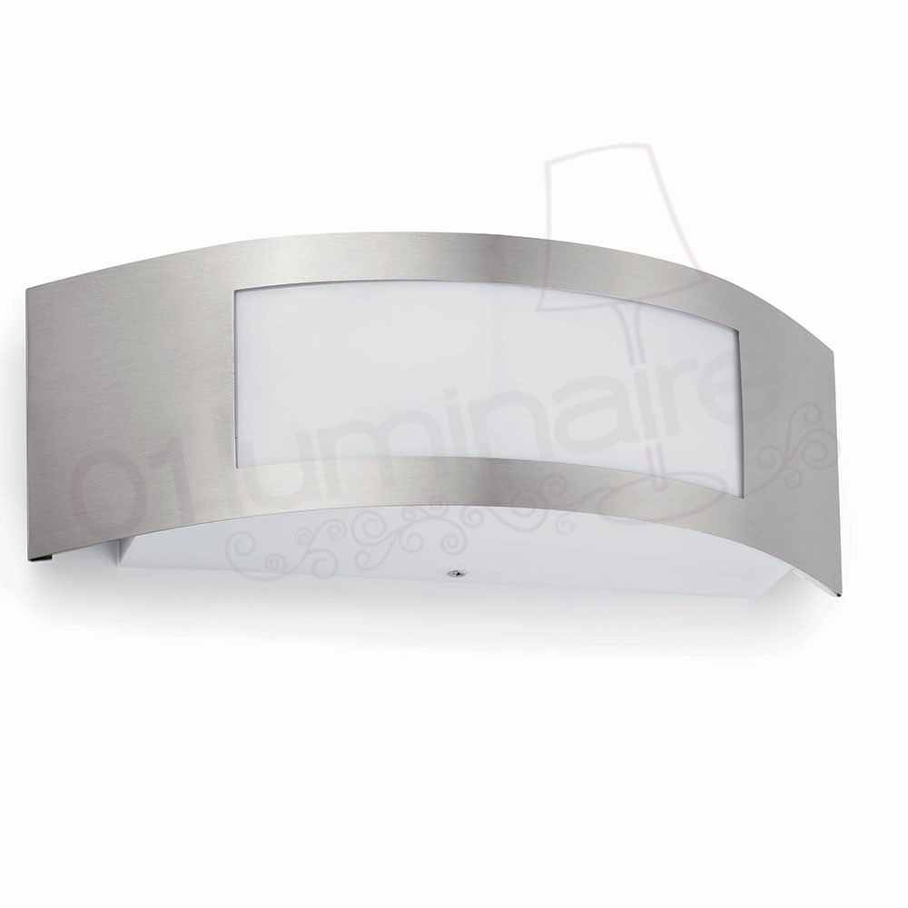 Applique ext rieure dorval 1 nickel mat 1 lumi re e27 15w for Applique murale exterieure faro