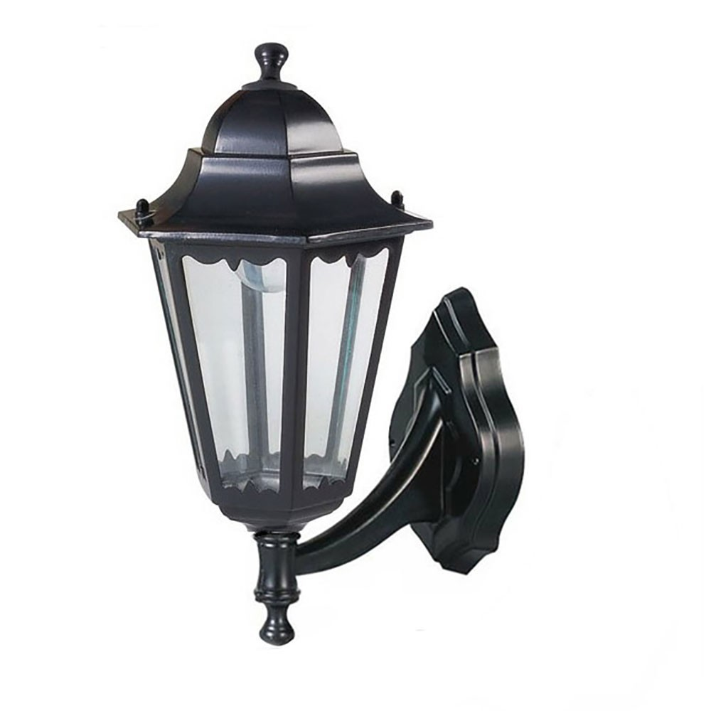 Applique ext tieure paris noir 1 lumi re e27 20w faro for Applique lumiere exterieur