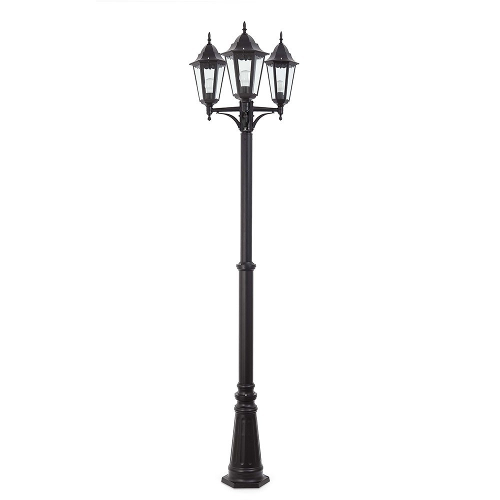 lampadaire exterieur paris noir 73438 faro. Black Bedroom Furniture Sets. Home Design Ideas