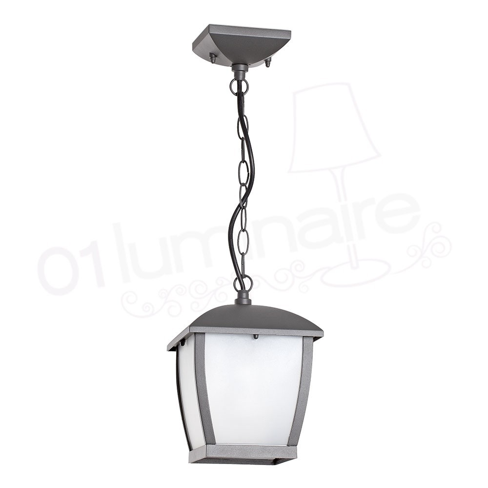 Suspension ext rieure mini wilma gris 1 lumi re e27 74996 faro - Luminaire faro exterieur ...