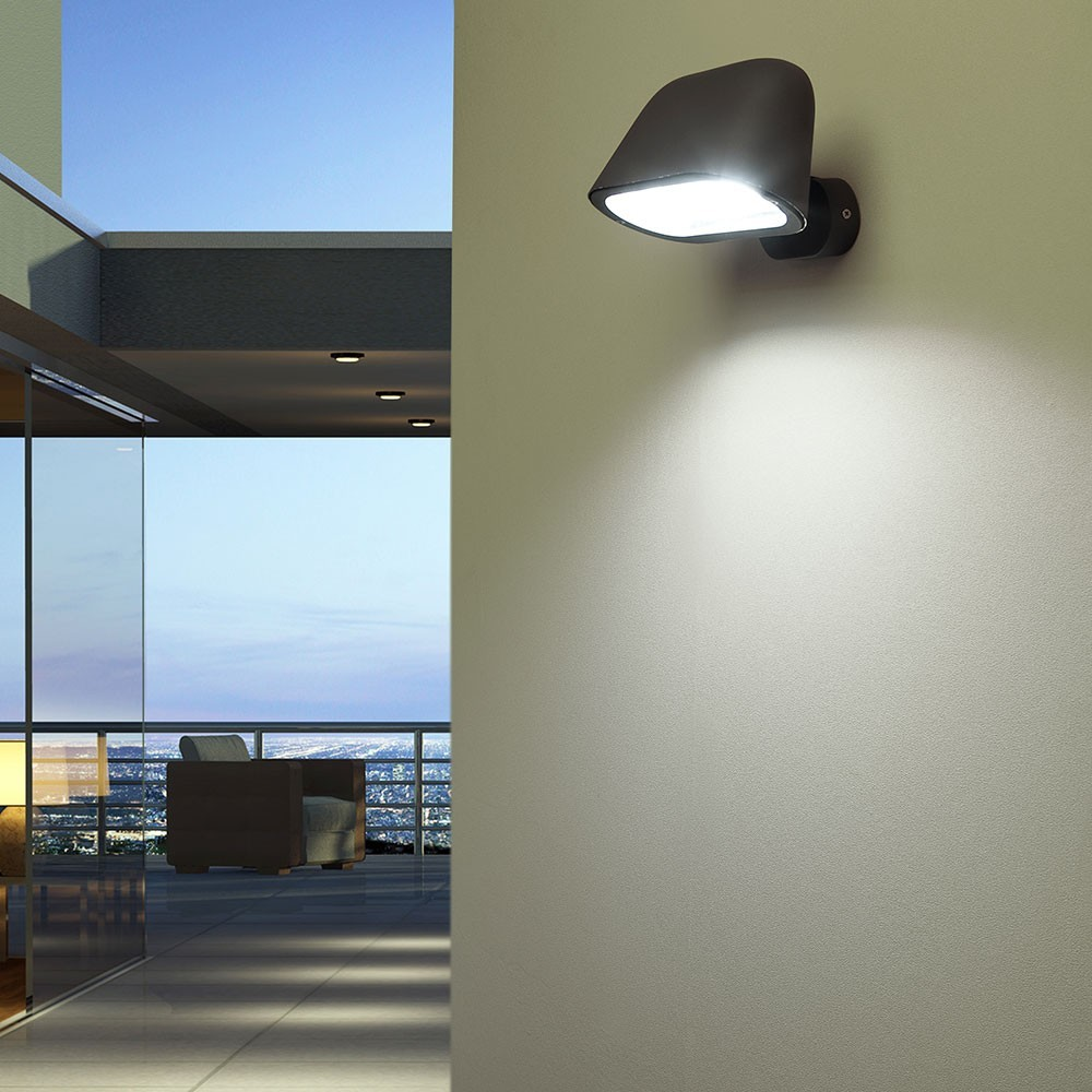 Applique ext rieure sentinel gris 1 lumi re e27 15w faro for Applique murale exterieure faro
