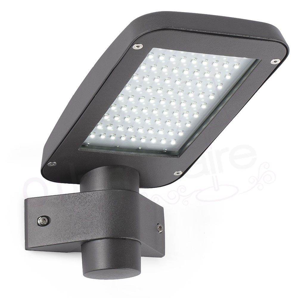 Applique ext rieure yak gris led 4000k 630lm faro for Applique murale exterieure led