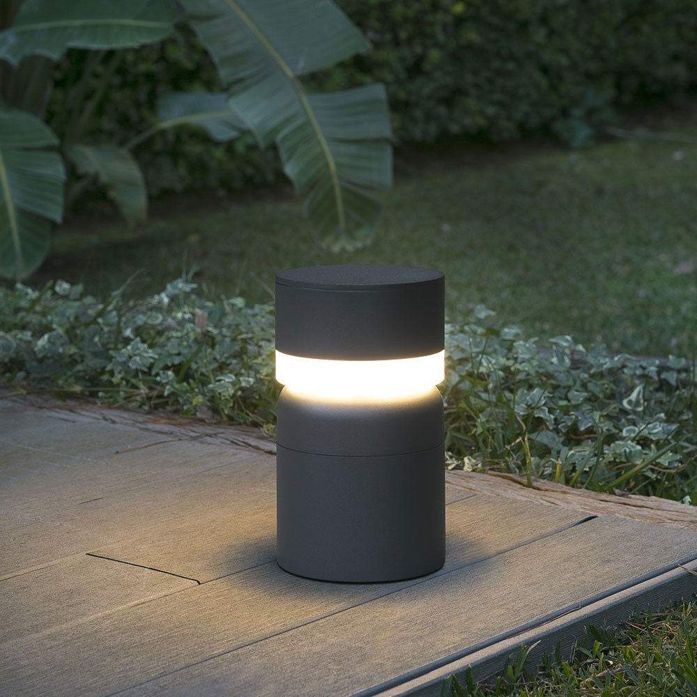 borne potelet ext rieur sete led gris 3000k ip54 75521 faro. Black Bedroom Furniture Sets. Home Design Ideas