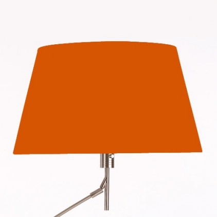 Abat-jour conique taffetas orange 50x36x28cm