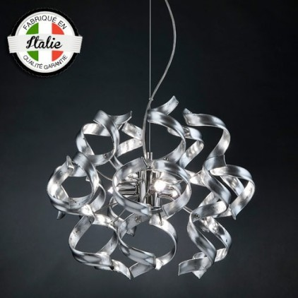 Suspension Astre 3 lumières argent 206-140-15 MetalLux