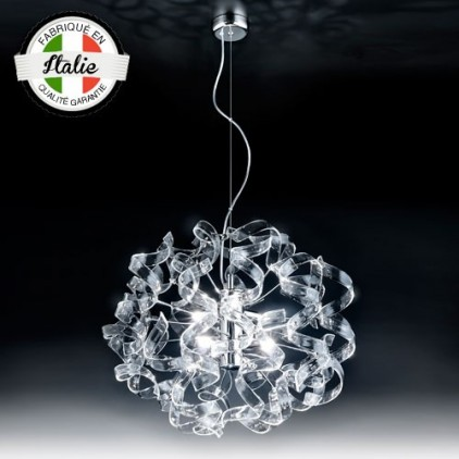 Suspension Astre 6 lumières cristal 206-155-01 MetalLux