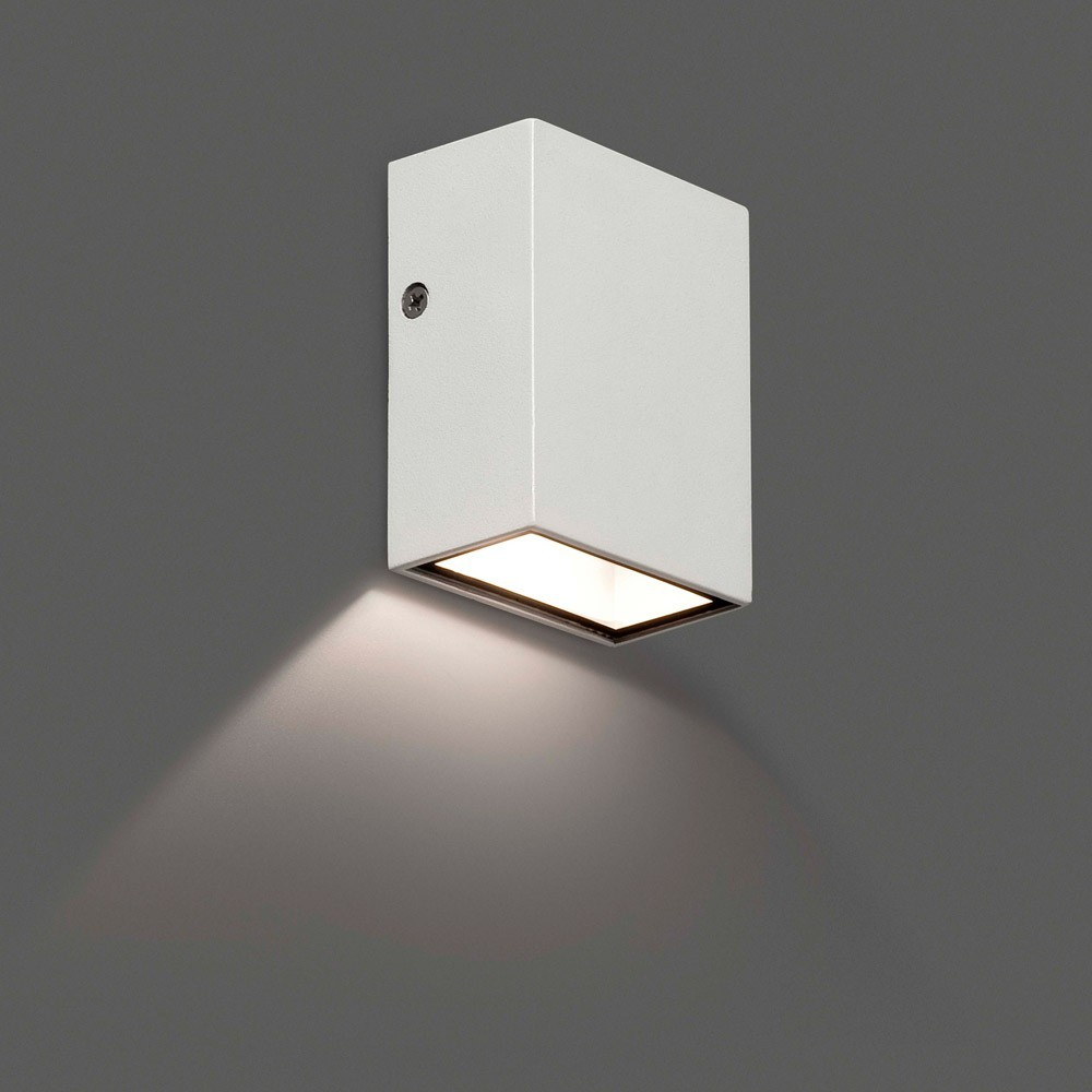 Applique ext rieur canon led blanc ip44 70567n faro for Grande applique murale exterieur