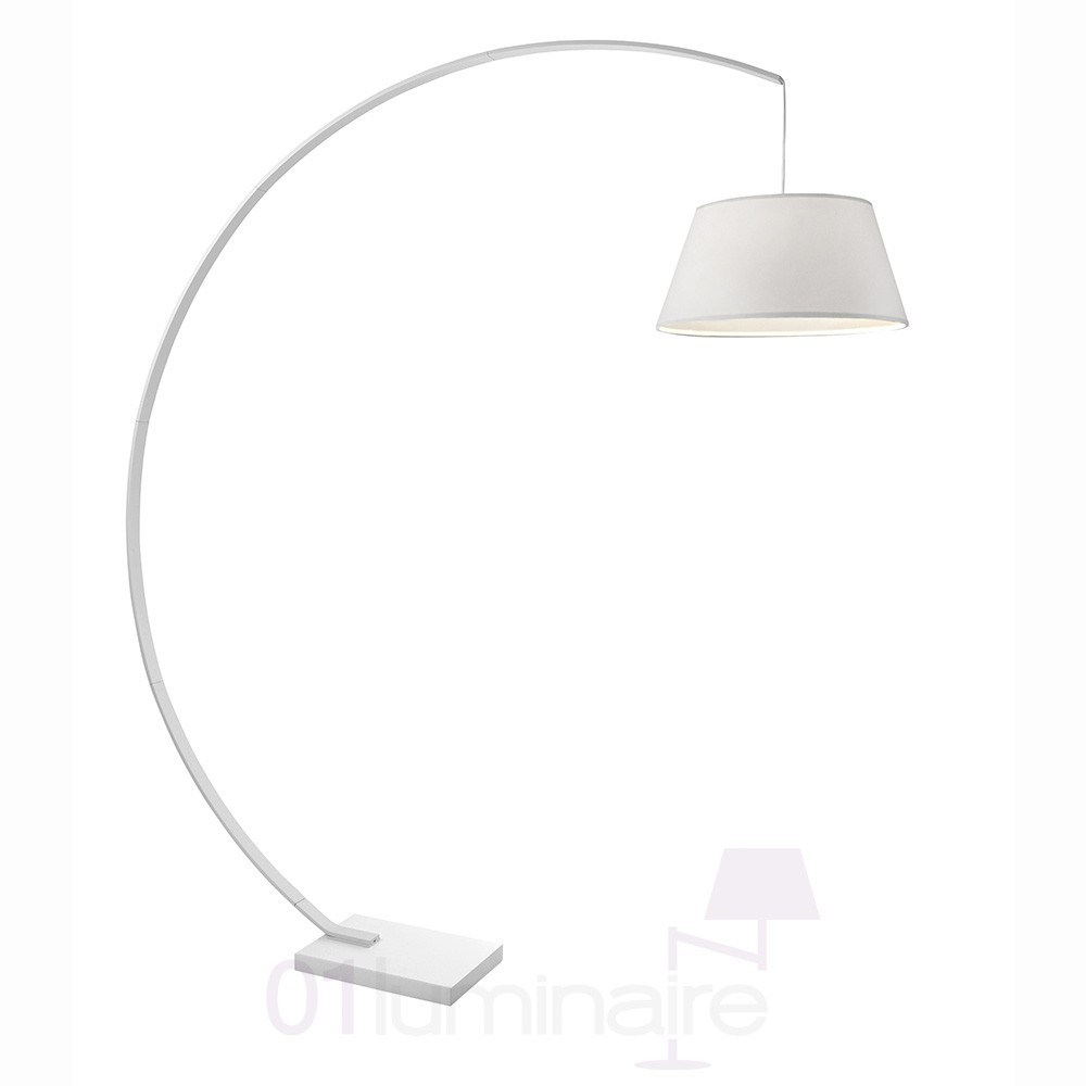 lampadaire arc sompex blanc 40w sompex. Black Bedroom Furniture Sets. Home Design Ideas