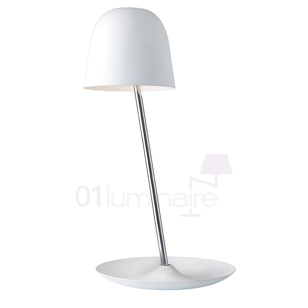 Lampe poser led pirol blanc 6w 550 lm sompex for Lampe halogene a poser