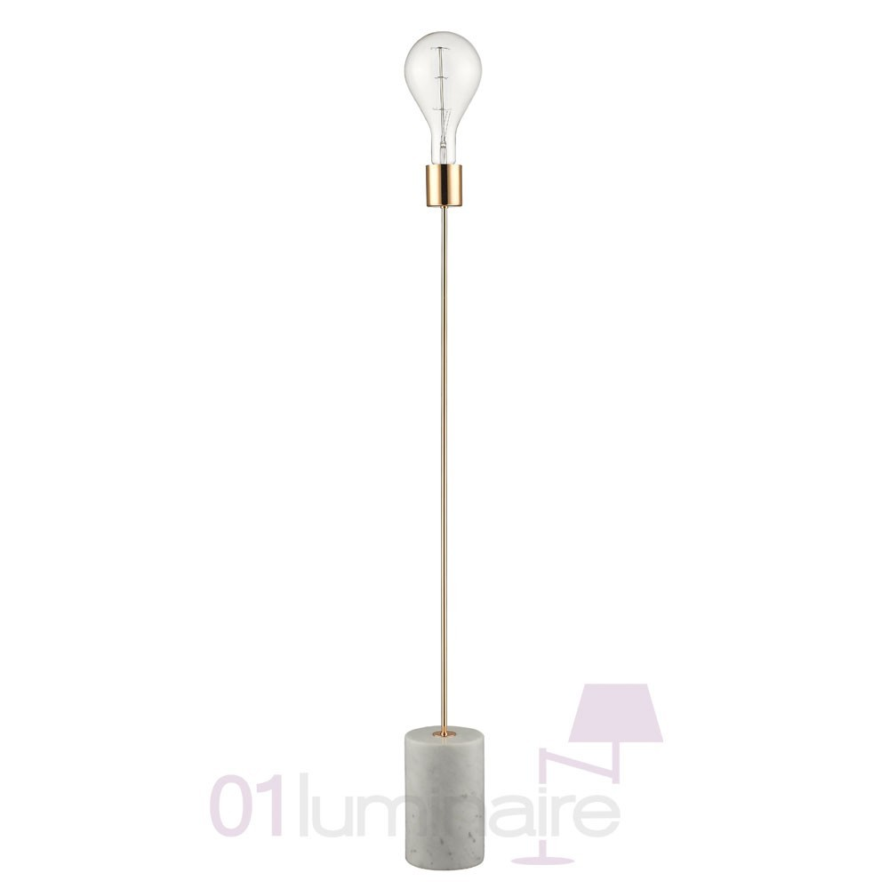 lampadaire totem cuivre et marbre blanc e40 market set. Black Bedroom Furniture Sets. Home Design Ideas