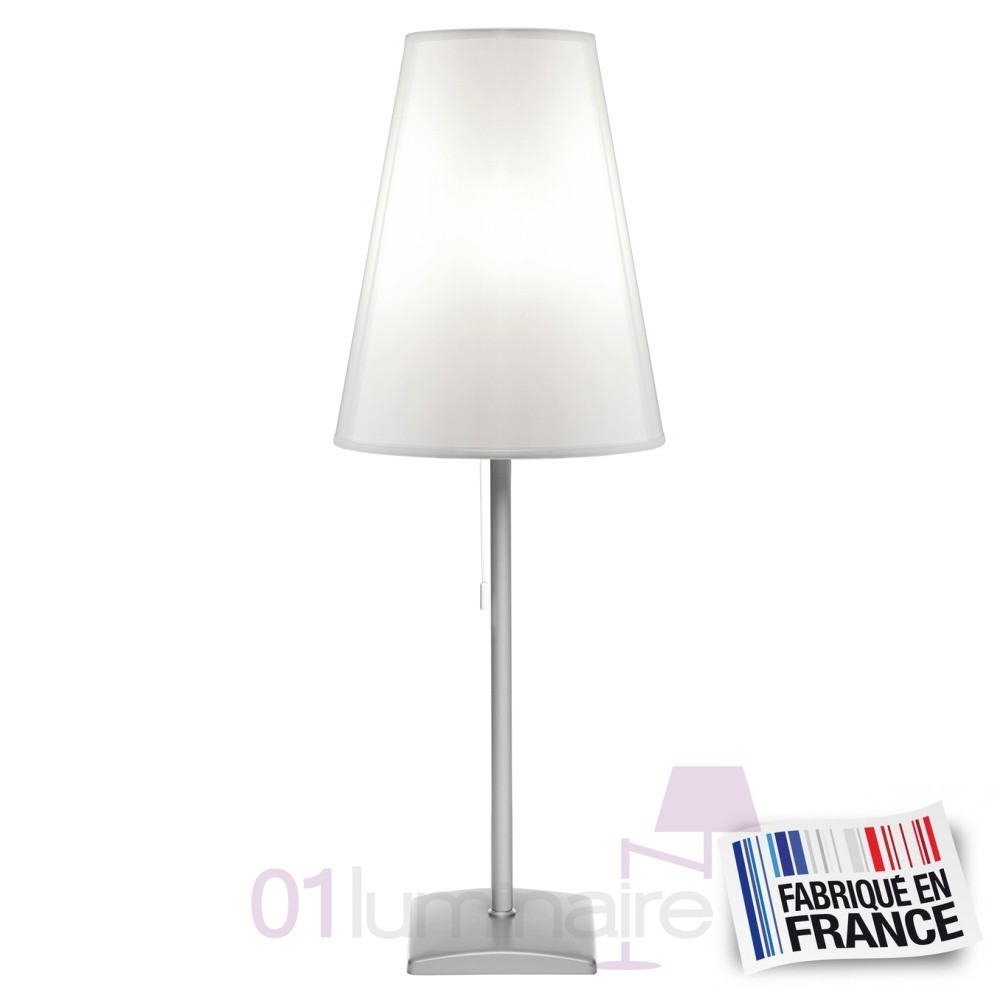 Lampe ambiance abat jour blanc lumi translucide 400050643 for Lampe ambiance et style